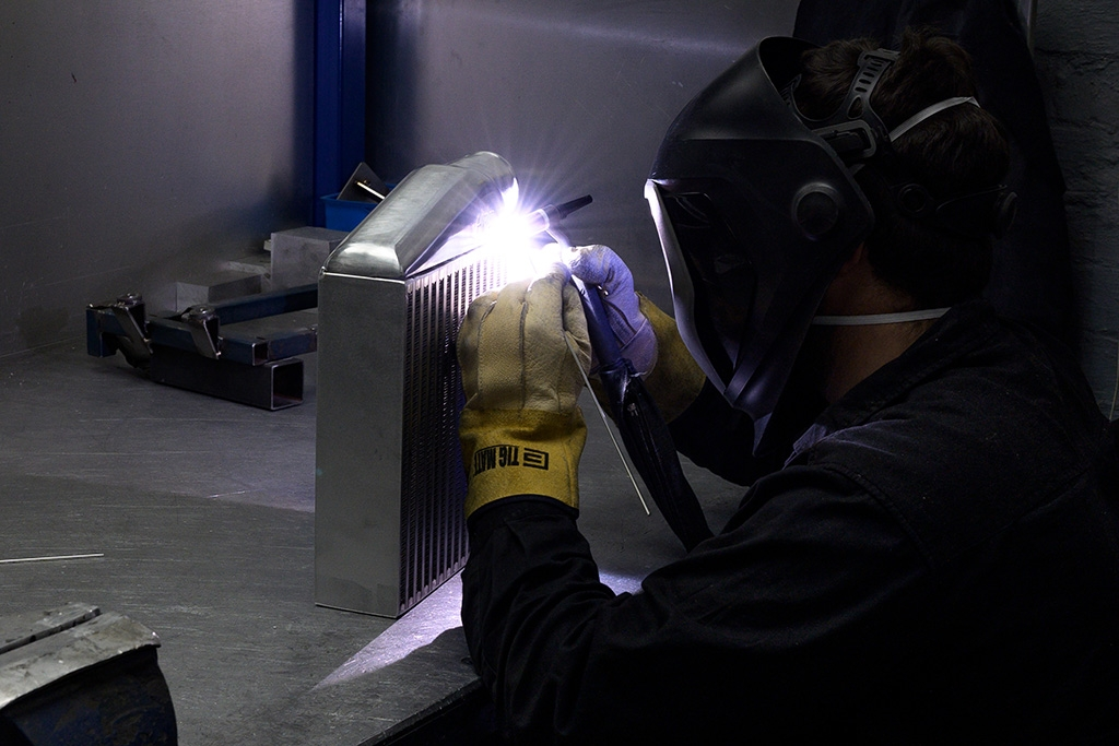 welding an intercooler