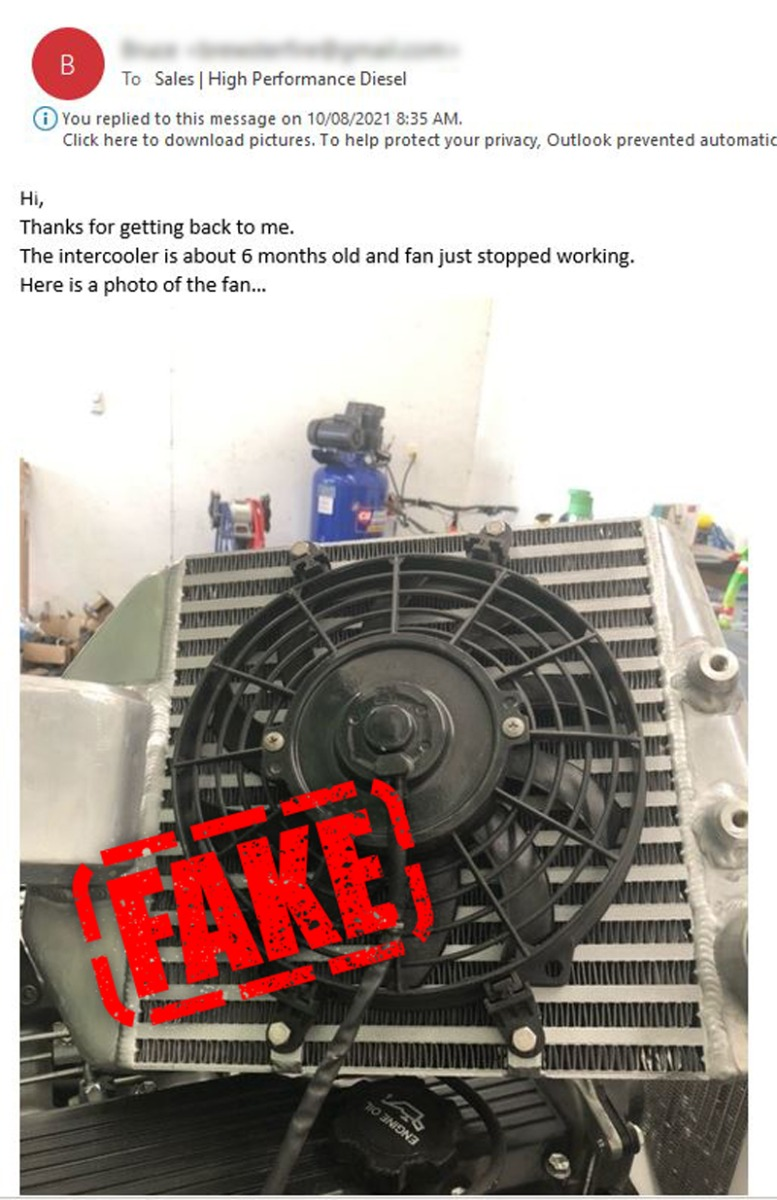 Problems with fake HPD products