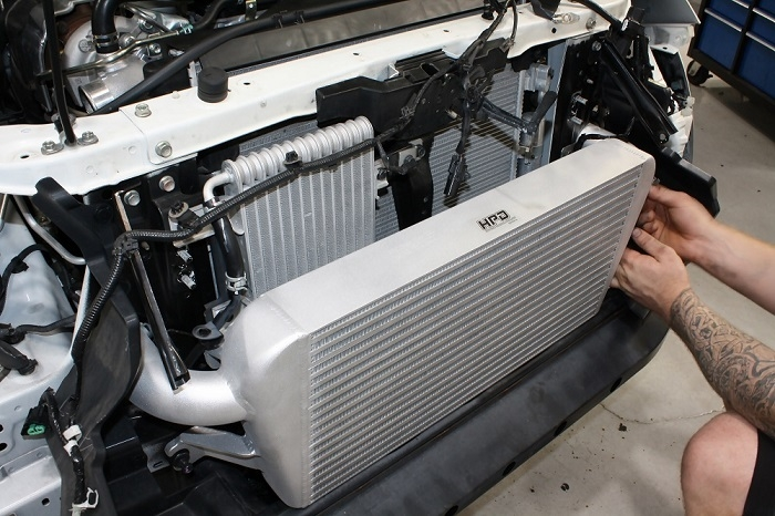 fitting an intercooler to an MQ Triton